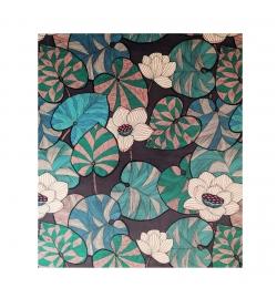 rideau velours fleurs idris thevenon