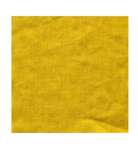 rideau lin jaune moutarde thevenon