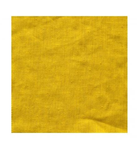 rideau sur mesure en lin jaune moutarde thevenon