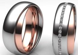 Trauringe xoé Ring im Ring Rotgold Titan