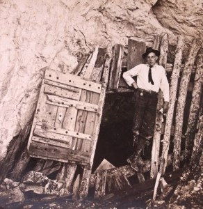 Dan Morrison at the Entrance to Limespur Cave
