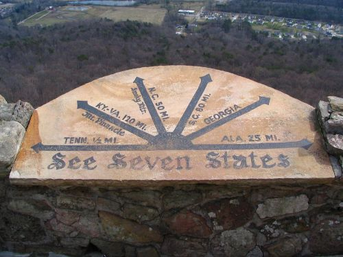 Rock City overlooks seven states. Maybe.
