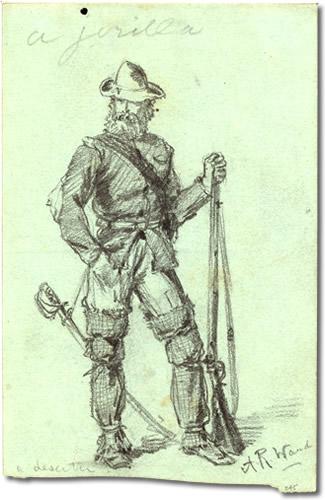 Civil War deserters hid in Linville Caverns Illustration of Civil War Deserter Artist Alfred Rudolph Waud, 1828-1891 - Linville Caverns – The Underground World of Caves
