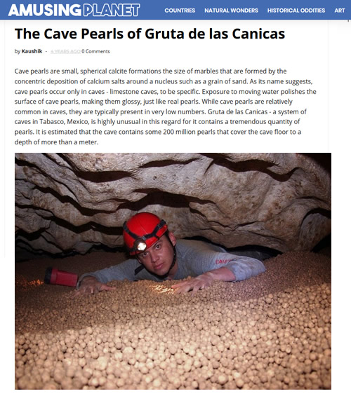 Amusing Planet article on The Cave of the Marbles
