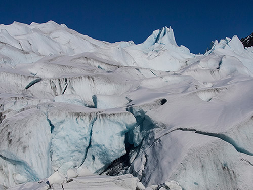 Cracks in Mendenhall Glacier Photo by Kenneth J. Gill