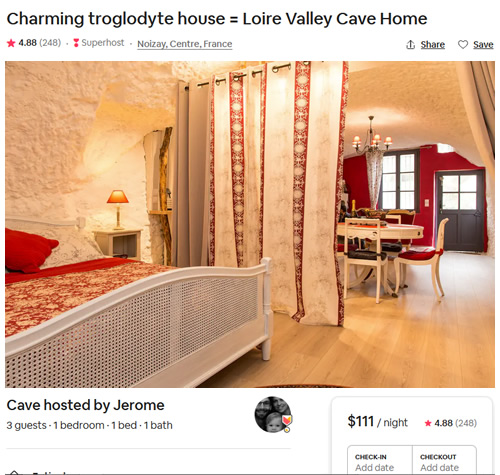 Charming Troglodyte House - Loire Valley Cave Home on Airbnb