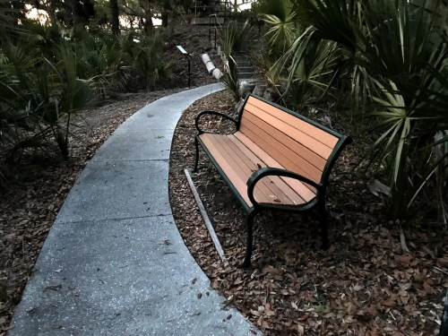 There are plenty of benches to enjoy the breeze and the view over the bay. - Fort Mitchell – Hilton Head – design42