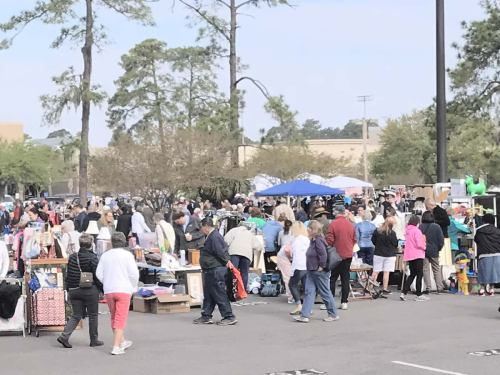 There was a little bit of everything for sale. - The World's Largest Yard Sale – Hilton Head Island – design42