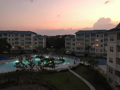 Sunrise from the balcony - Bluewater Resort on Hilton Head Island