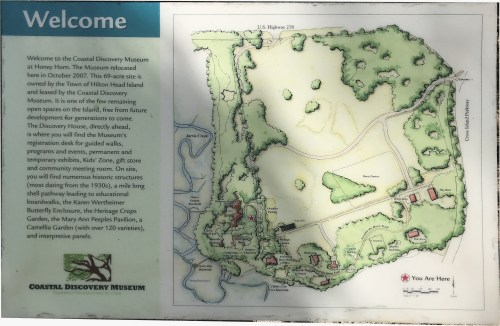 Map of the Coastal Discovery Museum at Honey Horn