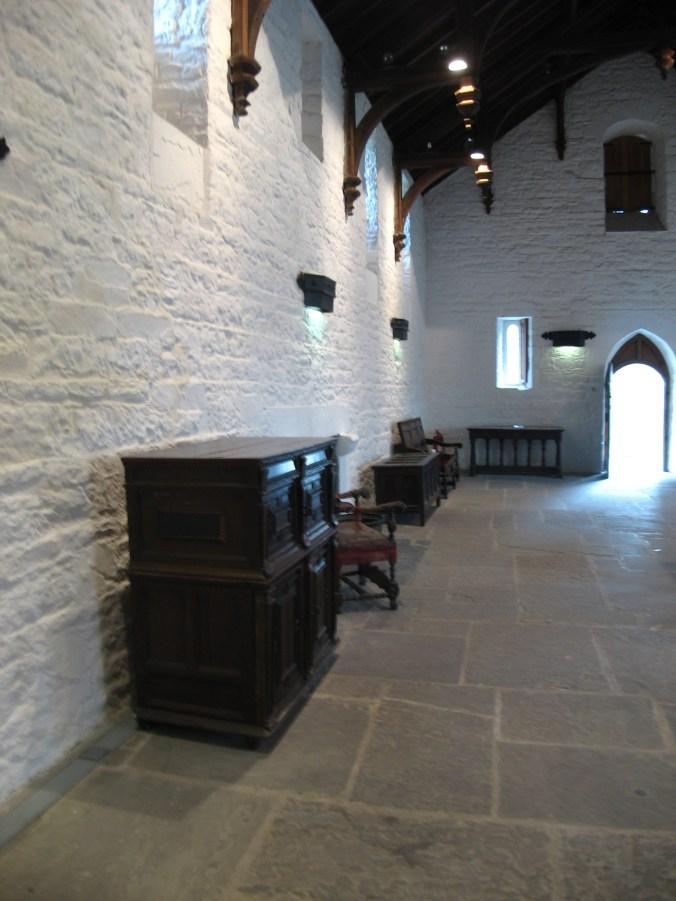 Castles were whitewashed or limewashed.