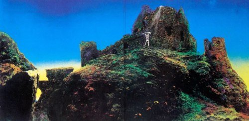 The inside cover art of Led Zeppelin's Houses of the Holy was shot at Dunluce Castle. The outside cover art was shot at Giant's Causeway.