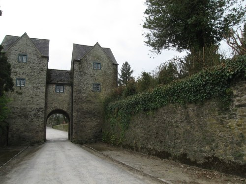 Gatehouse at Lismore Castle from inside