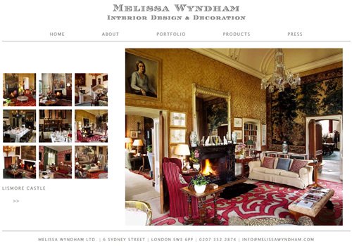 Melissa Wyndham's Lismore Castle Portfolio