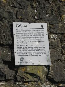 Warning Sign in Gaelic
