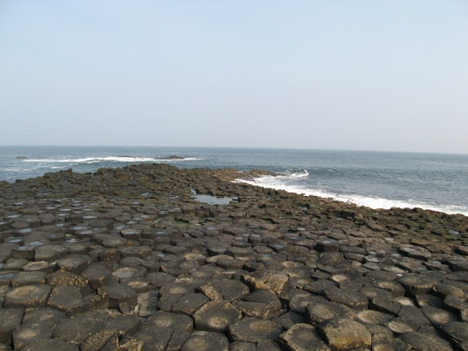 Giant's Causeway appears to cross the sea to Scotland