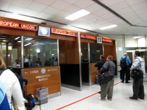 Customs and Imigration at Dublin Airport