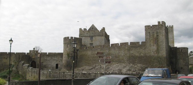 Cahir Castle is right in the middle of the town of Cahir.
