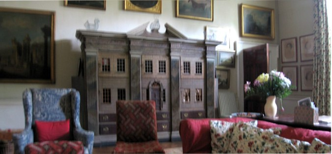 Leixlip Castle Drawing Room with 18th century dollhouse