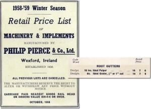 Philip Pierce & Co Ltd. Catalog lists Ideal Pulper and Ideal Grater.
