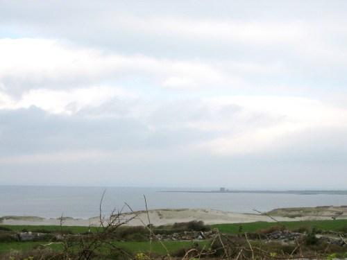 Finavarra Tower an oval Napoleon Tower, Galway Bay, Ireland