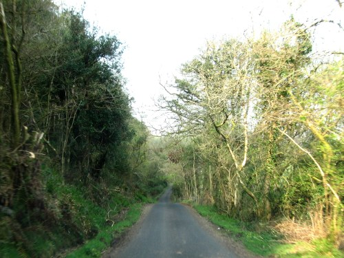 Driving the little roads to Ballycastle, Ireland