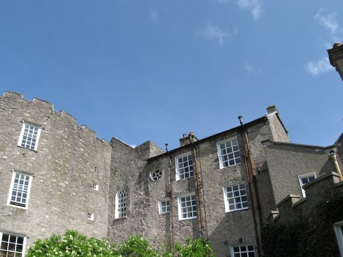 The roof line of Leixlip Castle on the side