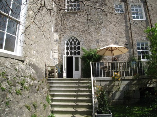 The side door to the Front Hall of Leixlip Castle