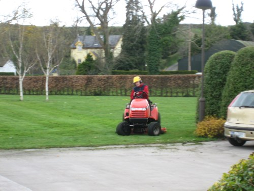 Brother mowing at Ireland's Bethel