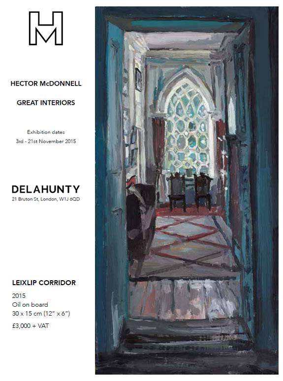 LEIXLIP CORRIDOR, Hector McDonnell, October 2015 - Delahunty Gallery Catalog - A Different Visit to Ireland