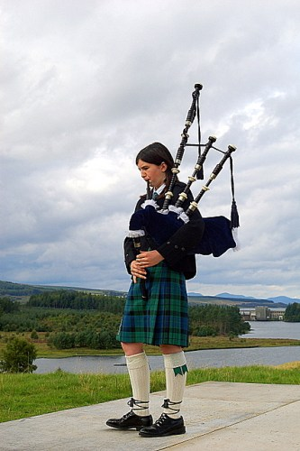 A Piper at the 2008 Lairg Crofters Show - Bagpipes in Ireland - A Different Visit to Ireland