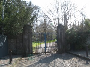 Gate to Leixlip Castle