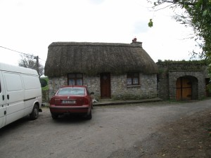 Thatched roof on house along the way to Swiss Cottage, Cahir, Ireland