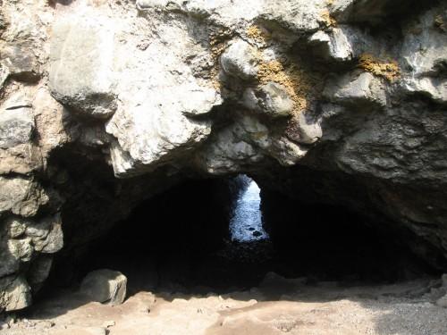 Mermaid's Cave, a huge sea cove beneath Dunluce Castle rock