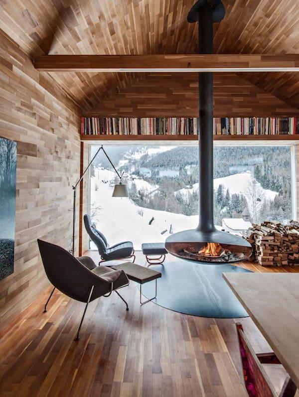 Con i giusti accorgimenti l'atmosfera indoor di uno chalet. Case Di Montagna Moderne Design Alpino