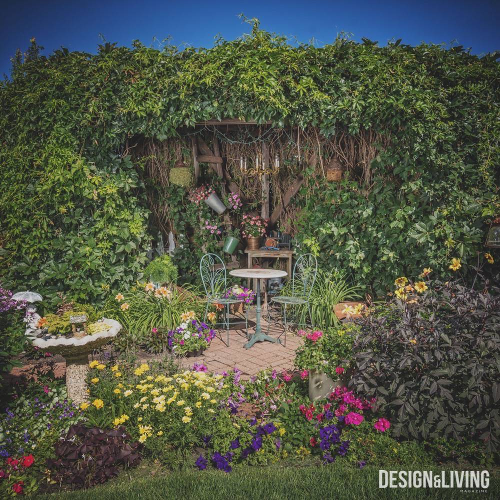 A Whimsical Garden In North Fargo - Design and Living Magazine on Whimsical Backyard Ideas id=96667