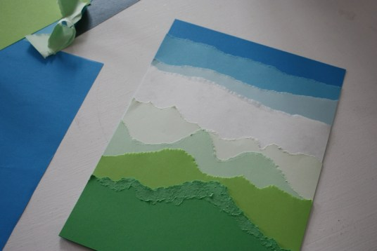 Torn Construction Paper Crafts