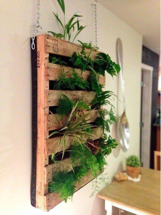 DIY hangende moestuin - Pallet - Designaresse