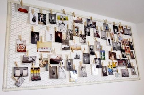 DIY - fotowand - kippengaas - Designaresse