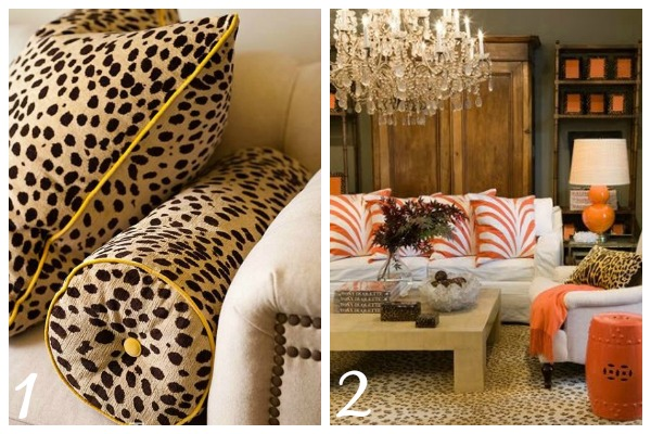 decorating with animal prints pillows