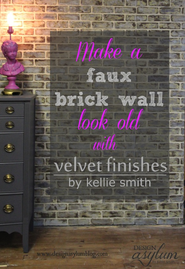 Painting faux brick walls | Design Asylum Blog