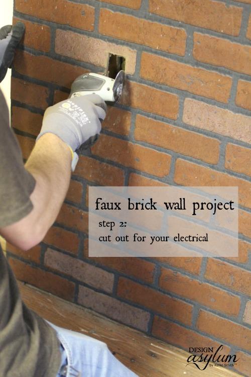 Faux Brick Wall | Design Asylum Blog
