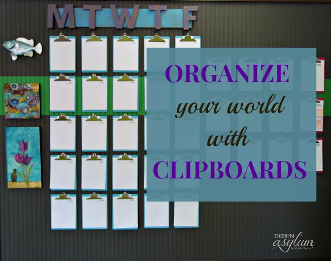 Keep your scheduling chaos under control with a clipboard wall calendar.