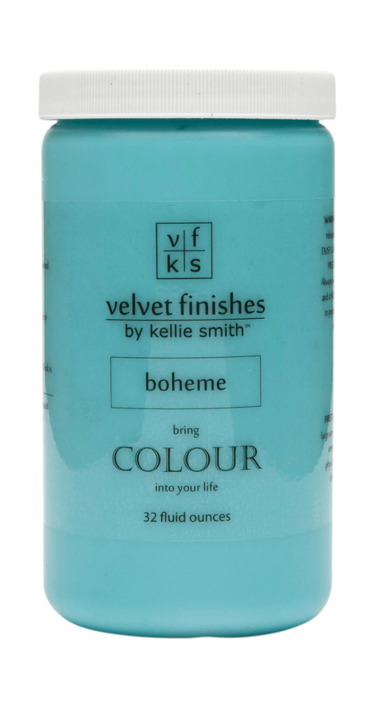 Velvet Finishes August Colour of the Month is Boheme Turquoise! Save 20% on Boheme Velvet Finishes at checkout using code AUG17COM. Turquoise DIY Furniture.