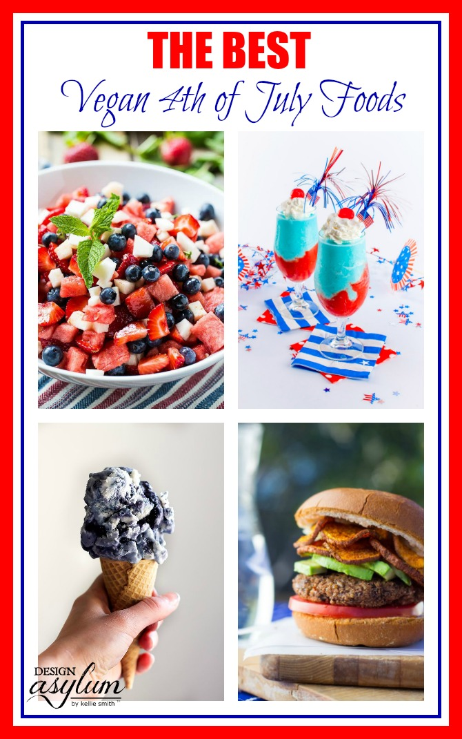 The Best VEGAN 4th of July foods + recipes! Get ready for the 4th of July with these amazing burgers, sides, and desserts! #vegan