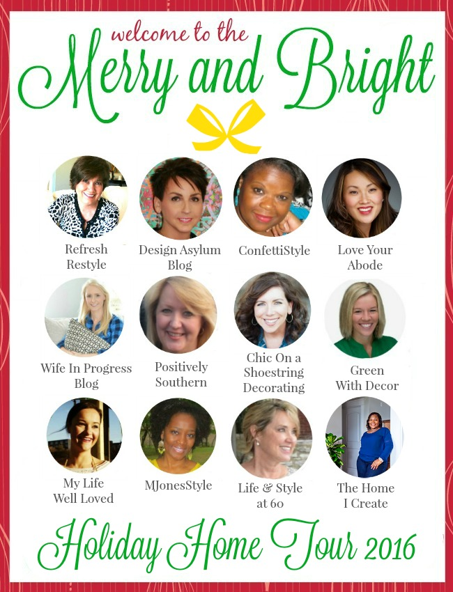 It's time for the 2016 Merry and Bright Holiday Home Tour! 12 amazing bloggers, 12 amazing holiday home tour inspirations!