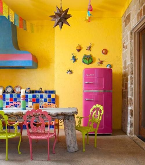 In honor of Cinco de Mayo quickly approaching, I've rounded up my favorite Mexican Interiors and Furniture Pieces that make me want to get my sombrero out!