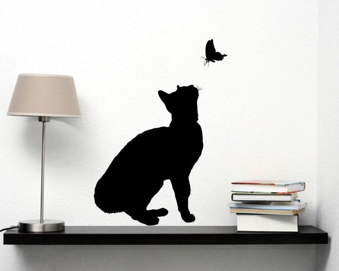 adesivi murali decorativi gatto