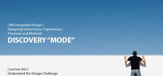"Designing Interactions / Experiences: Discovery ""Mode"""
