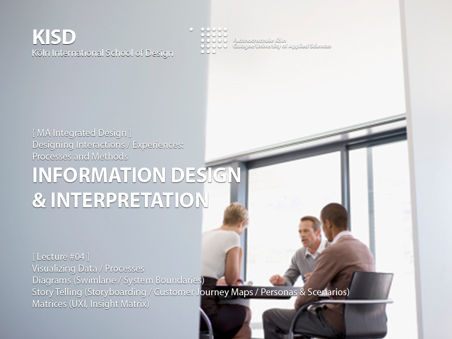 Designing Interactions: Information Design & Interpretation